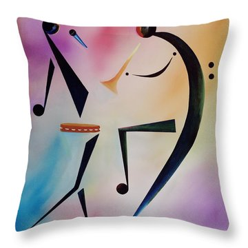 Tambourine Jam Throw Pillow by Ikahl Beckford