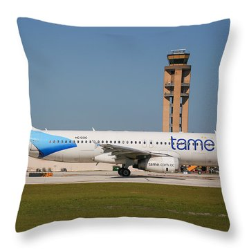 Tame Airline Throw Pillow