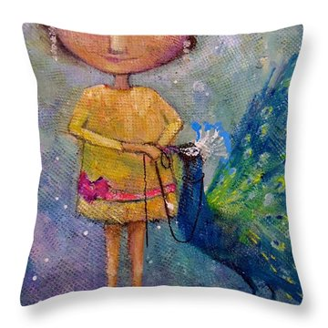 Tame Your Pride Throw Pillow by Eleatta Diver