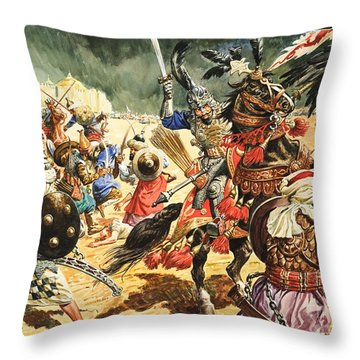 Tamerlane The Terrible Throw Pillow by CL Doughty