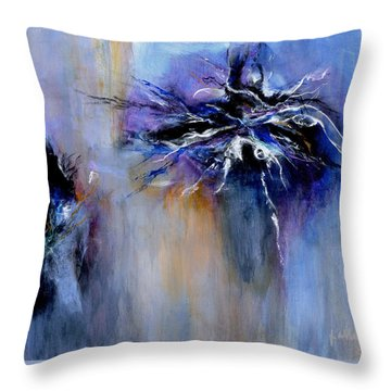 Taming The Blues Throw Pillow by Jim Whalen