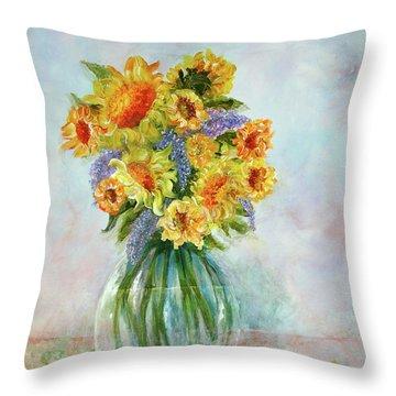 Tammy's Bouquet Throw Pillow