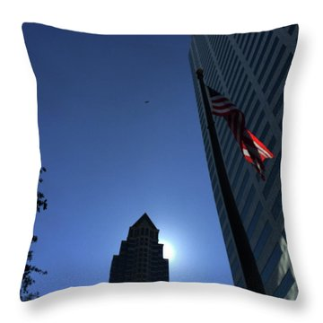 Tampa At Noon On A Monday Throw Pillow