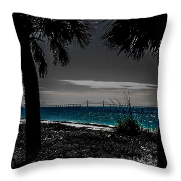 Tampa Bay Blue Throw Pillow