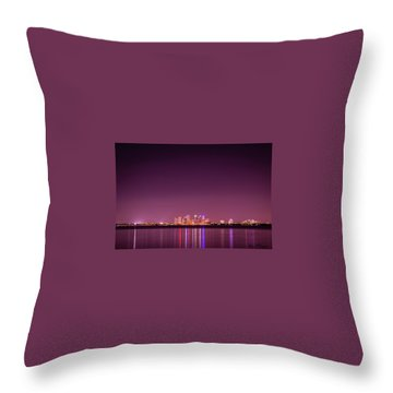 Tampa Bay Skyline Throw Pillow
