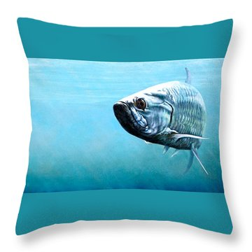 Tampa Bay Tarpon Throw Pillow by Joan Garcia