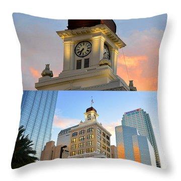 Tampa City Hall Building Built 1915 Throw Pillow