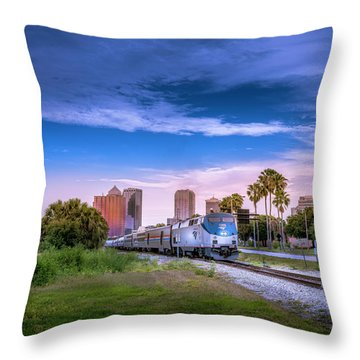 Throw Pillow featuring the photograph Tampa Departure by Marvin Spates