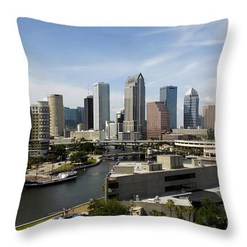 Tampa Florida Landscape Throw Pillow by David Lee Thompson