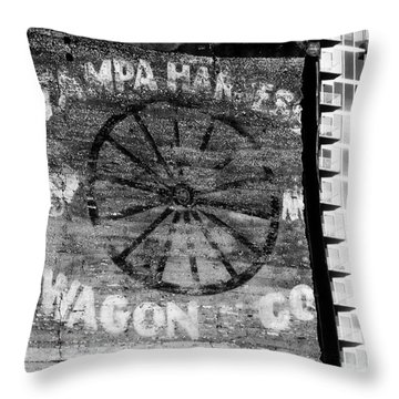Tampa Harness Wagon N Company Throw Pillow by David Lee Thompson