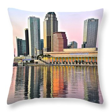Tampa In Vivid Color Throw Pillow