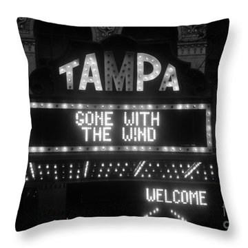 Tampa Theatre 1939 Throw Pillow by David Lee Thompson