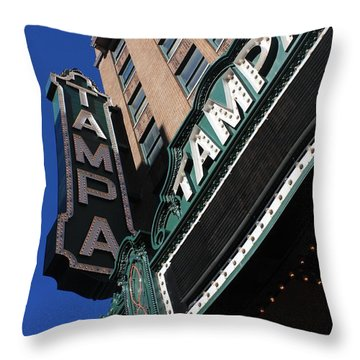 Tampa Theatre  Throw Pillow by Carol Groenen