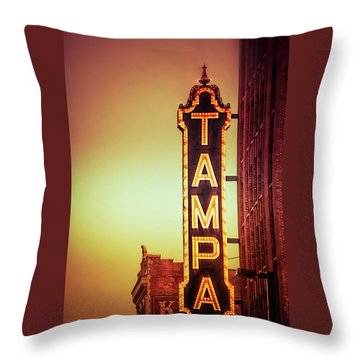 Throw Pillow featuring the photograph Tampa Theatre by Carolyn Marshall