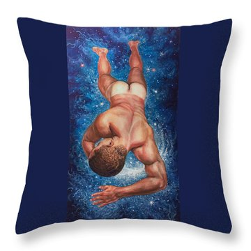 Tan Lines In Space Throw Pillow