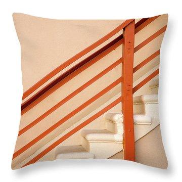 Tan Stairs Venice Beach California Throw Pillow