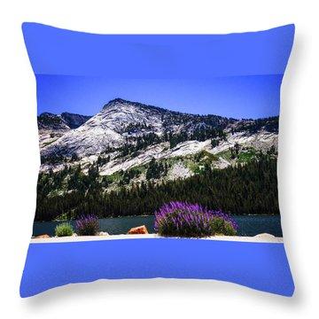 Tanaya Lake Wildflowers Yosemite Throw Pillow