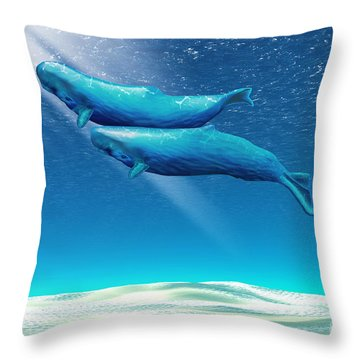 Tandem Throw Pillow by Corey Ford