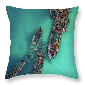 Tangalooma Wrecks Throw Pillow