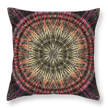 Tangendental Meditation Throw Pillow