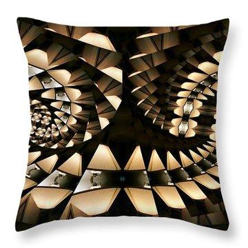 Tangential Spiral Throw Pillow