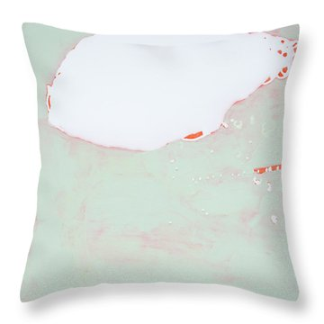 Tangerine Creamsicle Cloud 1 Throw Pillow