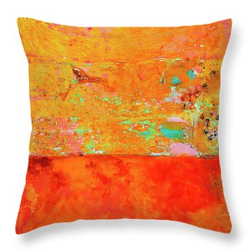 Tangerine Dream Throw Pillow by Skip Hunt