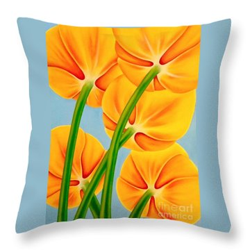 Tangerine Throw Pillow