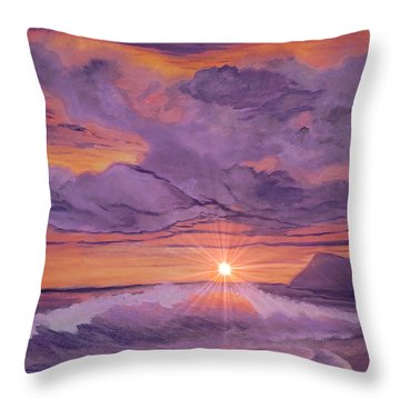 Tangerine Sky Throw Pillow