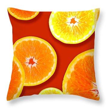 Tangerine Tango Throw Pillow by Tara Hutton