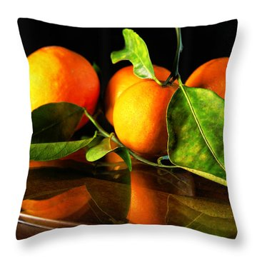 Tangerines Throw Pillow