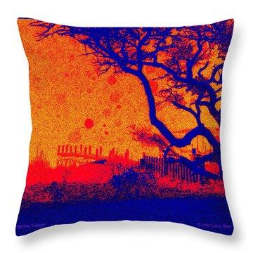 Tangerine Twilight Throw Pillow