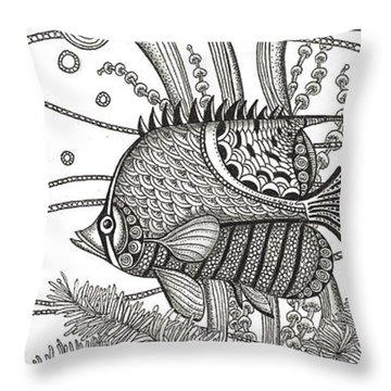 Tangle Fish Throw Pillow