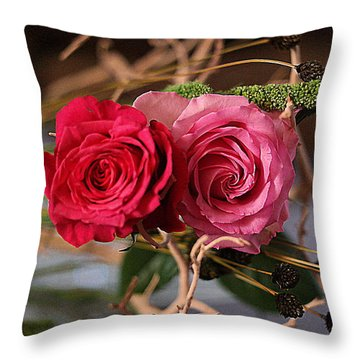 Throw Pillow featuring the photograph Tangled On Driftwood by Diana Mary Sharpton