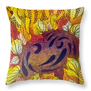 Tangled Sunflower Throw Pillow