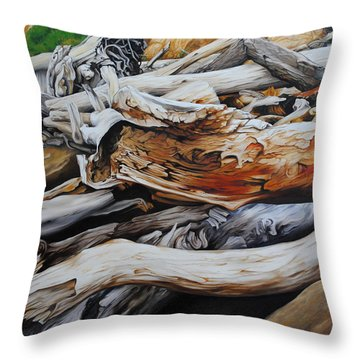 Tangled Timbers Throw Pillow
