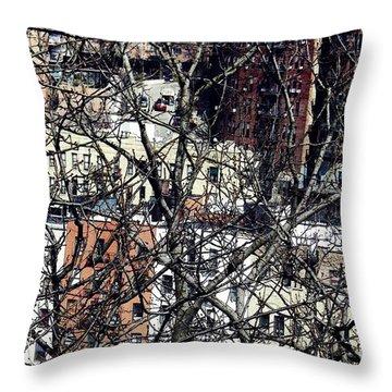 Tangled Town Throw Pillow by Sarah Loft