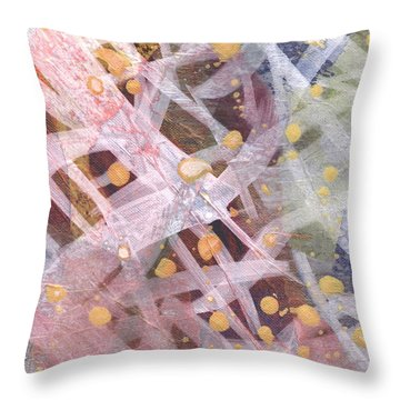 Throw Pillow featuring the mixed media Tangled Up by Angela L Walker