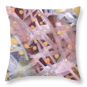 Throw Pillow featuring the mixed media Tangled Up II by Angela L Walker