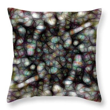 Tangled Web Abstract Art Throw Pillow by Ann Powell