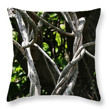 Throw Pillow featuring the photograph Tangled by William Selander