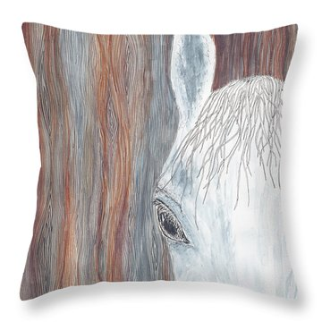 Throw Pillow featuring the painting Tanglewood by Kathryn Riley Parker