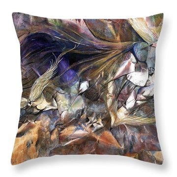 Tango Birds Throw Pillow