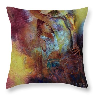Tango Couple Dance Vby7 Throw Pillow by Gull G