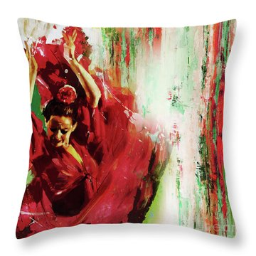 Throw Pillow featuring the painting Tango Dance 45g by Gull G