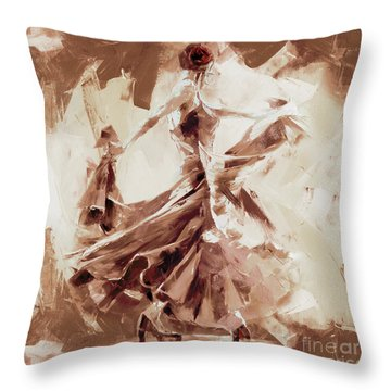 Throw Pillow featuring the painting Tango Dance 9910j by Gull G