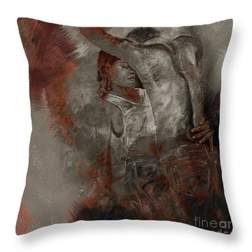 Tango Dance 998alu Throw Pillow by Gull G