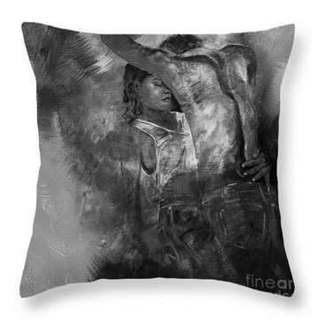 Tango Dancers 01 Throw Pillow by Gull G