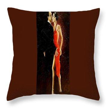Tango Dancers #3 Throw Pillow