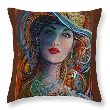 Tango Friends Throw Pillow by Jan VonBokel